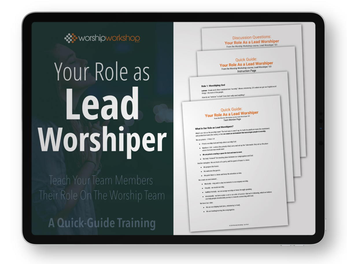 Lead Worshiper Quick Guide